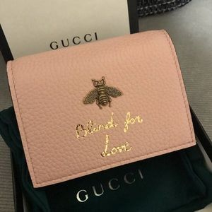 GUCCI Blind For Love💕 Pink Compact Wallet